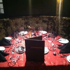 Illusionarium dinner set up
