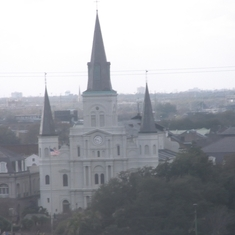 Leaving New Orleans... believe this could possibly be St. Louis Cathedral...