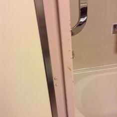 Look that the bathroom door frame