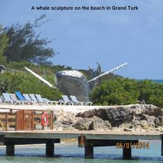 Grand Turk Island - Whale Sculputure near the port in Grand Turk
