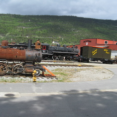What a railroad this was and still is. Finished at the end of the Klondike gold