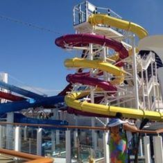 Water Slides on the ship! A must do!