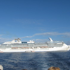 Our Coral Princess on tender day