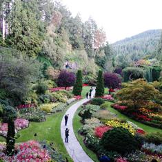 Sunken Gardens at Butchart Gardens in Victoria, B.C.