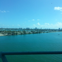 The view from the ship!