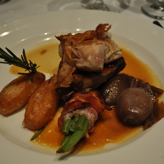 Roasted chicken in main dining room on Royal Princess