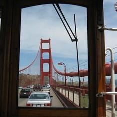 San Francisco, California - Crossing the Golden Gate Bridge