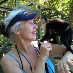 Visit with the Monkeys; Roatan, Honduras