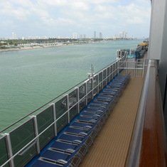 Promenade Deck from Cabin 6287