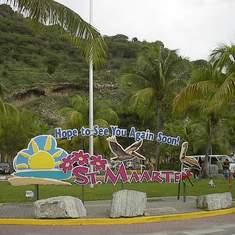 Roundabout in St. Maarten