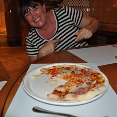 Pizza at Alfredo's on Royal Princess